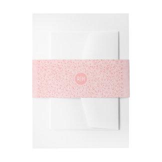 Bloos het Roze Bloemen Elegante Vintage Huwelijk Uitnodigingen Wikkel