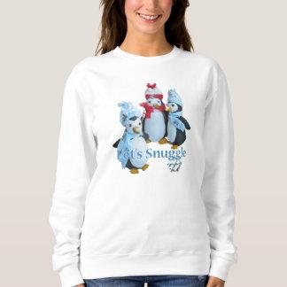 Blottissons-nous le temps froid bourré de pingouin sweatshirt