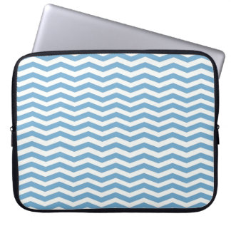 Blue Chevron Stripes LapTop Sleeve Trousse Pour Ordinateur Portable
