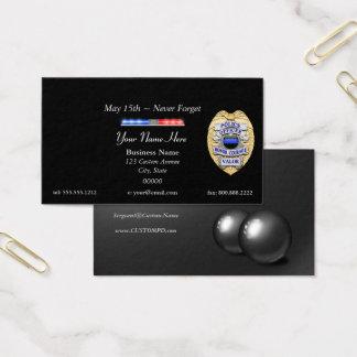 Blue Line mince maintiennent l'ordre l'insigne et Cartes De Visite