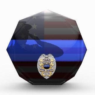 Blue Line mince - police plaque de récompense de