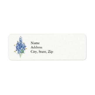 Bluebonnets Étiquette D'adresse Retour