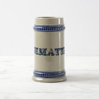 """BLUEMATTERS"" 22oz. Bière Stein Chope À Bière"