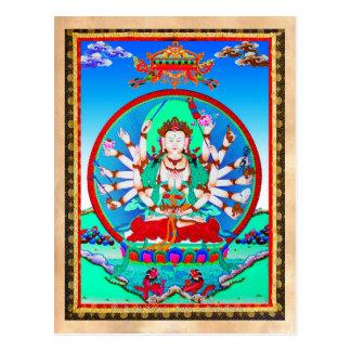 Bodhisattva tibétain frais de Cundhi de tatouage Carte Postale