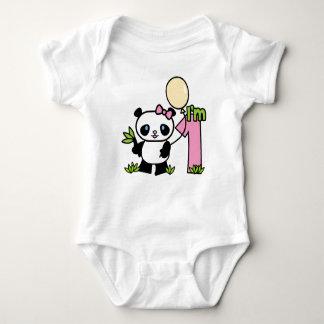 Body Anniversaire de fille de panda premier