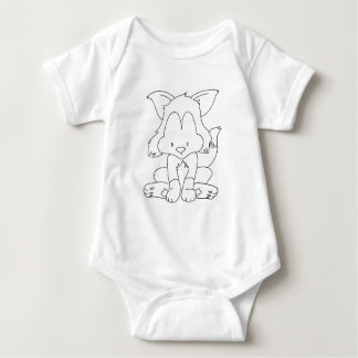 Body Baby Fox - Color it yourself - baby bodysuit