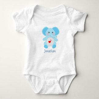 Body Baby shower adorable d'éléphant de bleus layette