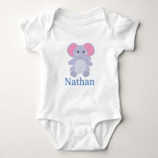 Body Baby shower gris adorable de garçon d'éléphant