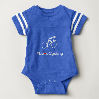 Body Bébé de recyclage de cycliste de slogan d'amour