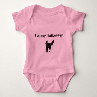 Body Chat rose de Halloween de combinaison de bébé