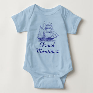Body Chemise nautique fière de bébé de bateau de