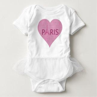 Body Coeur rose de Tour Eiffel de Paris