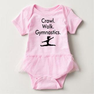 Body Combinaison de bébé de gymnaste de gymnastique de