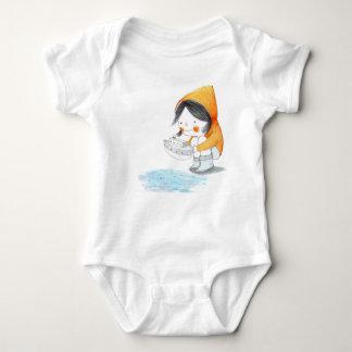 """Body Combinaison de bébé """"peu de bateau """""""