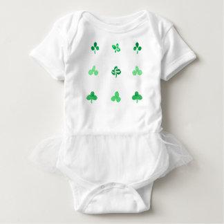 Body Combinaison de tutu de bébé avec le feuille de
