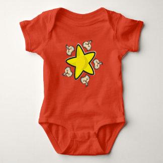 Body Combinaison du Jersey de bébé, rouge avec le