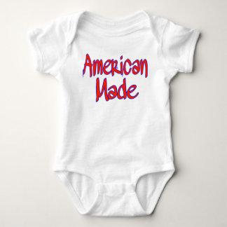 Body combinaison faite américaine de jersey de bébé de