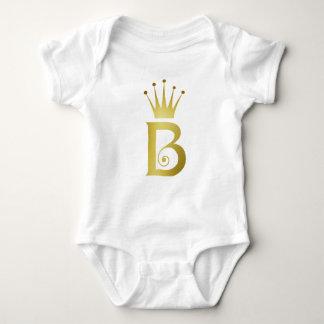 Body Combinaison initiale de bébé de monogramme de