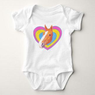 Body Combinaison mignonne de bébé de cheval