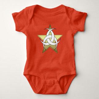 Body Combinaison rouge du Jersey de bébé de lune de