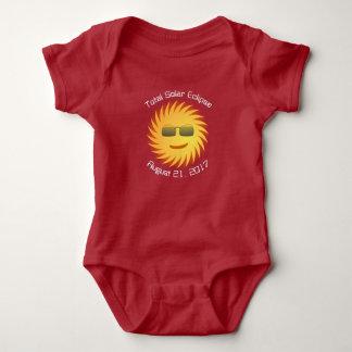 Body Combinaison totale de bébé d'éclipse solaire
