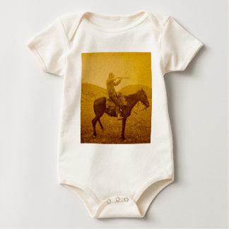 Body Cowboy vintage chassant à cheval