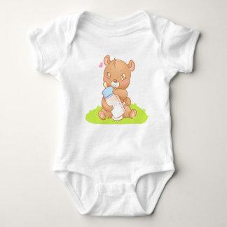 Body Creeper du bébé bavettes Personnalisé - bear
