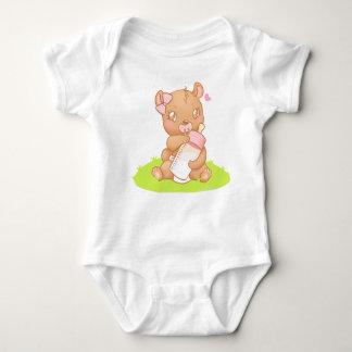 Body Creeper du bébé bavettes Personnalisé Bear