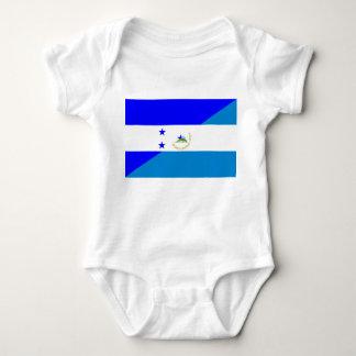 Body de drapeau de pays du Honduras Nicaragua demi