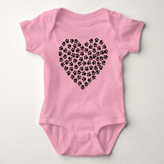 Body Gilet de bébé de coeur d'empreinte de patte