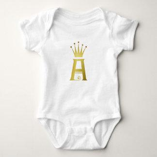 Body Initiale d'or une combinaison de dessus de bébé de