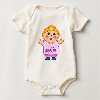 Body j'aime la plante grimpante de bébé de Jésus