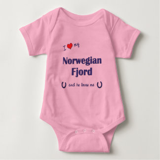 Body J'aime mon fjord norvégien (le cheval masculin)