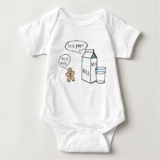 Body Lait et gingembre - combinaison blanche de bébé