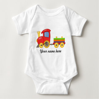 Body Le Babybody sait avec un motif de train (personali