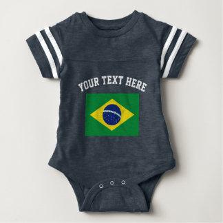 Body Le football de drapeau du Brésil folâtre la