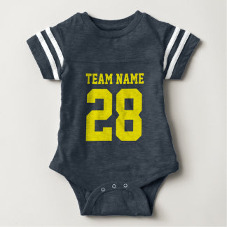 Body Le football jaune bleu Jersey de bébé folâtre la