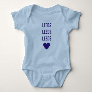 Body LEEDS LEEDS LEEDS Babygrow bleu personnalisé par