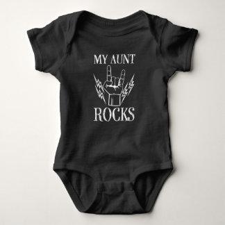 Body Ma chemise drôle de bébé de tante Rocks