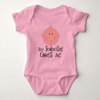 Body Ma marraine m'aime tee - shirt heureux de bébé