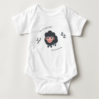 Body Moutons noirs de bébé de comptine de combinaison