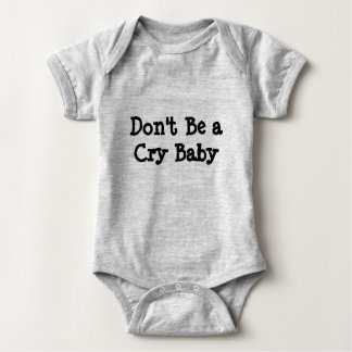 Body Ne soyez pas un onsie de bébé de Cary