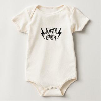 Body Noir superbe de rock de boulon de foudre de bébé