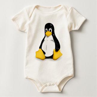 Body Plante grimpante organique de bébé de Linux Tux