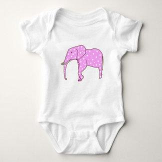 Body Pois blanc sur des combinaisons de bébé d'éléphant