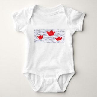 Body Salopette de papier rouge de bébé de bateaux