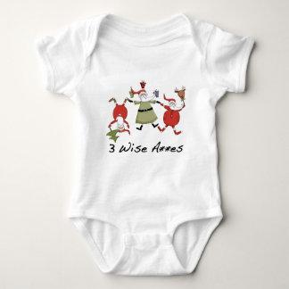 Body Trois vêtements de bébé de Noël de sages