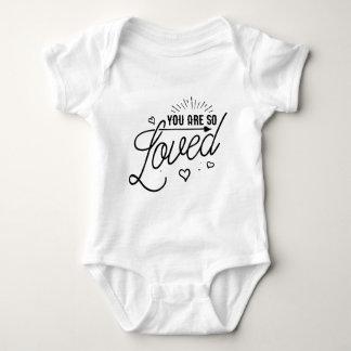 Body Vous êtes ainsi chemise aimée de bébé d'enfant
