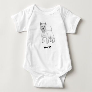 Body Woof ! Combinaison de bébé de chienchien - Terrier