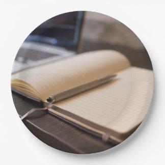 boek papieren bordje